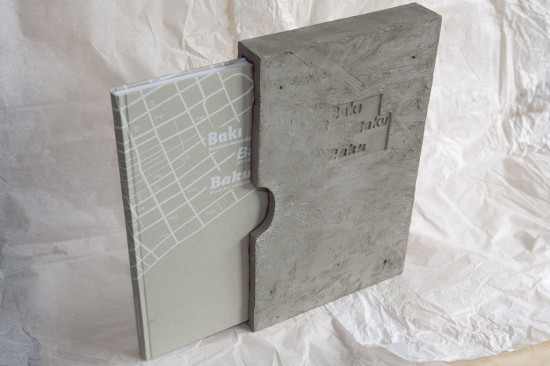 Book dummy with concrete slipcase