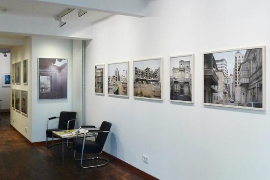 Ansicht der Ausstellung in der f75 Galerie